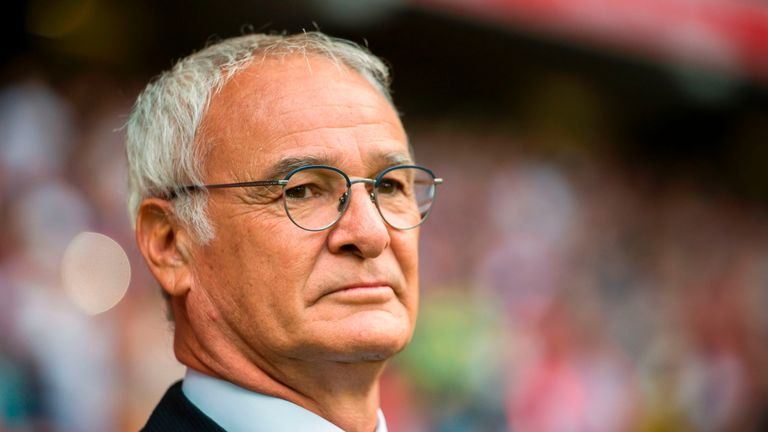 Nantes' Italian head coach Claudio Ranieri  looks on during the French Ligue 1 football match between Lille and Nantes on August 6, 2017 at Pierre Mauroy S