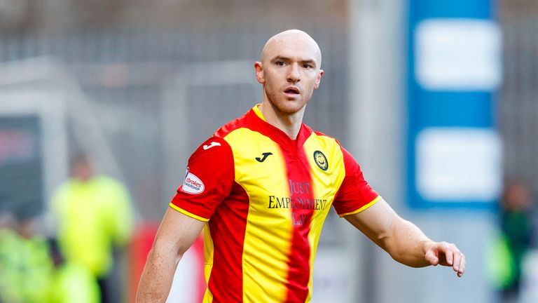 On-loan Hearts striker Conor Sammon in action for Partick Thistle