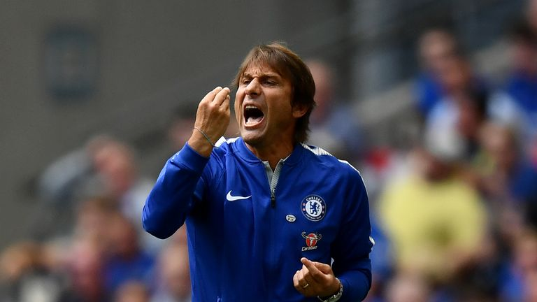 Antonio Conte was left frustrated by refereeing decisions against Chelsea in their Community Shield defeat