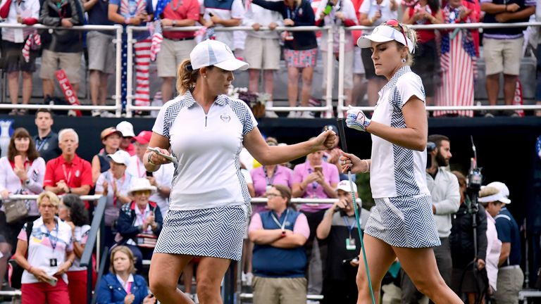 Cristie Kerr became Team USA's all-time leading points scorer after her win with Lexi Thompson