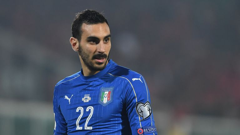 PALERMO, ITALY - MARCH 24:  Davide Zappacosta of Italy looks onb during the FIFA 2018 World Cup Qualifier between Italy and Albania at Stadio Renzo Barbera