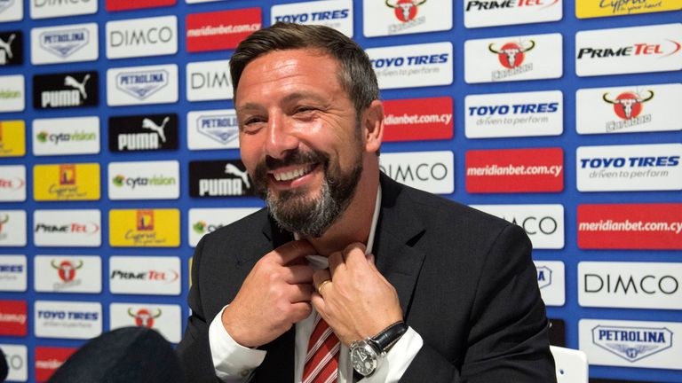 Aberdeen manager Derek McInnes insists he is content with life at Pittodrie