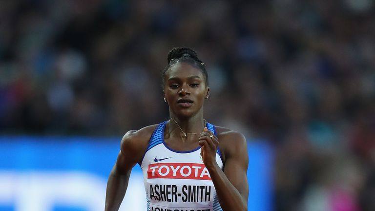 Dina Asher-Smith is through to the 200m final