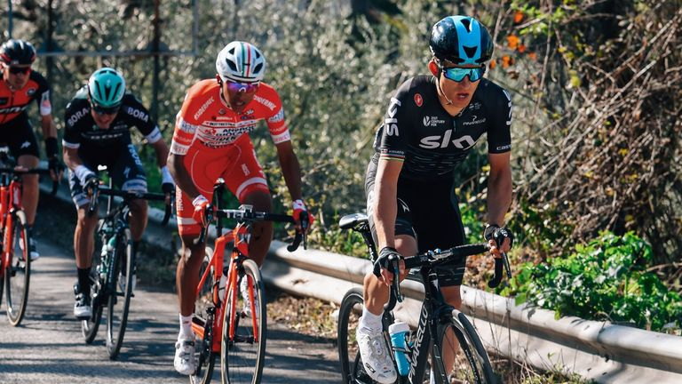 Egan Bernal joined Team Sky on Sunday
