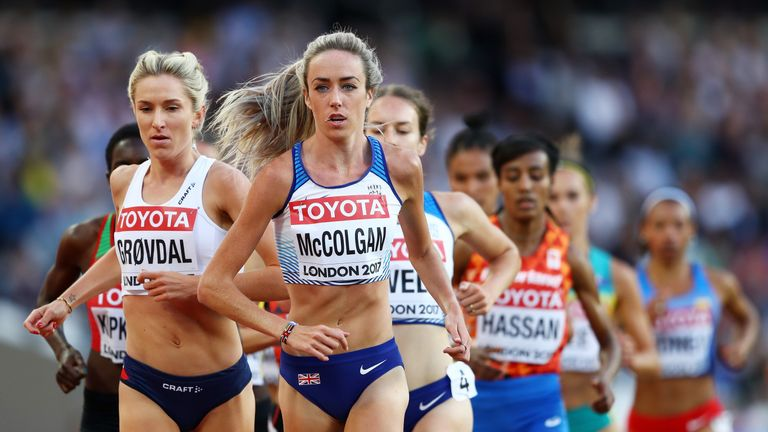 Eilish McColgan progressed, along with Laura Muir