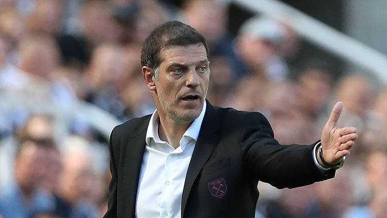 West Ham United manager Slaven Bilic is seen during the Premier League match between Newcastle United and West Ham