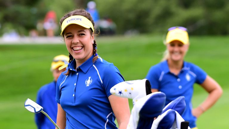 Hall was one of the stars of the Solheim Cup last year