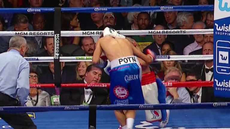 Davis hits Fonseca on the back of the head