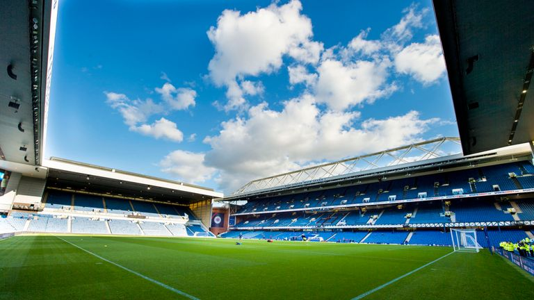 A general view of Ibrox stadium