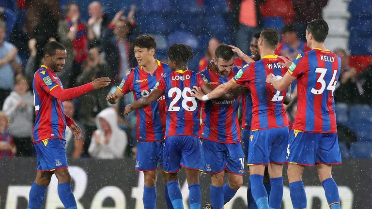 Crystal Palace secured their first win of the season with a 2-1 victory over Ipswich in the Carabao Cup