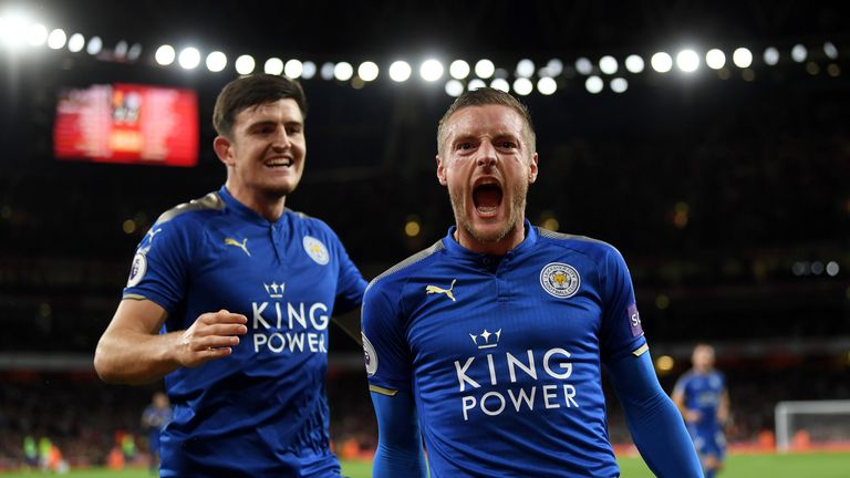 Jamie Vardy (right) will be back in contention for Leicester following injury