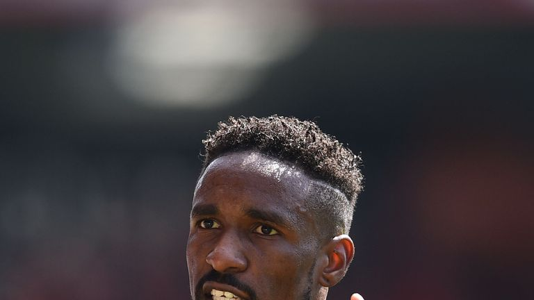 Jermain Defoe during the Premier League football match between Bournemouth and Manchester City