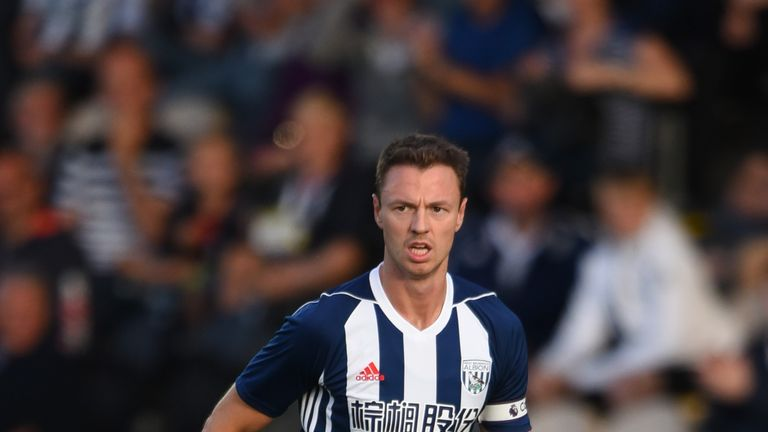 Alan Pardew was impressed by Jonny Evans' performance against Crystal Palace