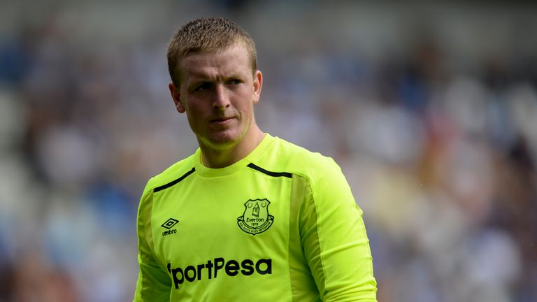 Jordan Pickford made his first competitive start since his move from Sunderland