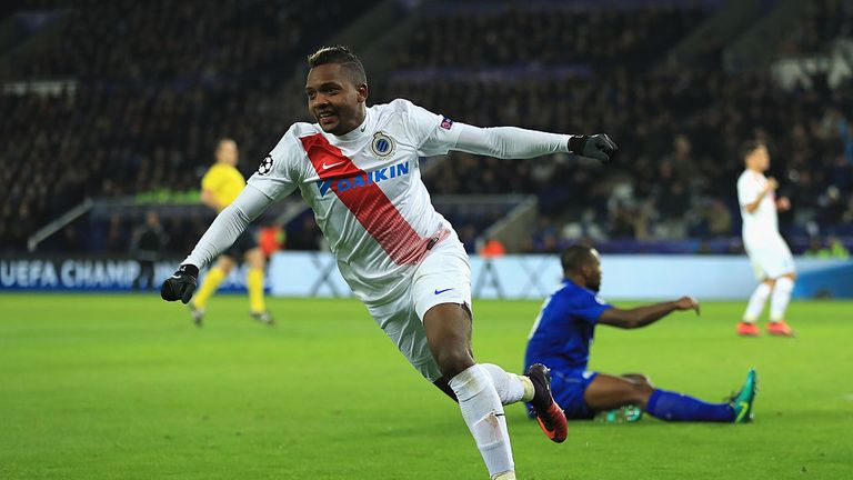 Jose Izquierdo scored for Club Brugge against Leicester in the Champions League last season