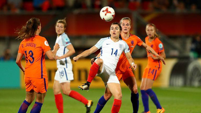 England had long spells of possession but struggled to break down a stubborn Holland defence
