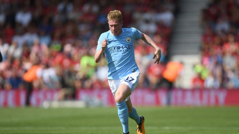 BOURNEMOUTH, ENGLAND - AUGUST 26:  Kevin De Bruyne of Manchester City in action during the Premier League match between AFC Bournemouth and Manchester City