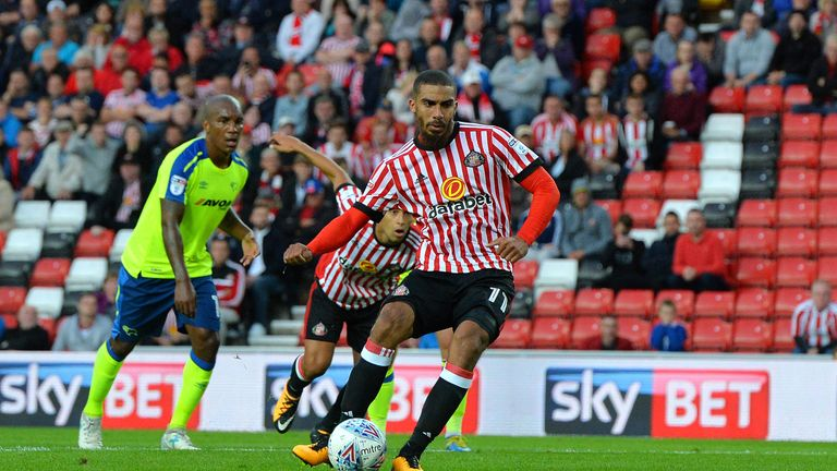 Lewis Grabban equalised for Sunderland from the penalty spot