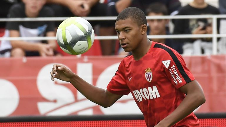 Kylian Mbappe did not feature in Monaco's league opener at the weekend