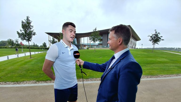 Michael Keane spoke exclusively to Sky Sports News at St George's Park