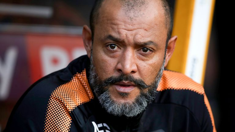 Wolverhampton Wanderers manager Nuno Espirito Santo during the Sky Bet Championship match against Middlesbrough