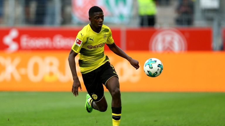 Ousmane Dembele during the preseason friendly match between Rot-Weiss Essen and Borussia Dortmund at Stadion Essen on July 11, 2017 in Essen, Germany.