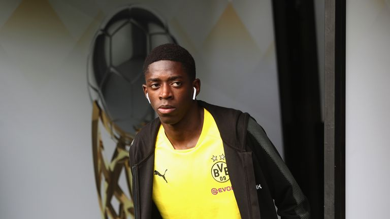 Ousmane Dembele during the DFL Supercup 2017 match between Borussia Dortmund and Bayern Muenchen at Signal Iduna Park