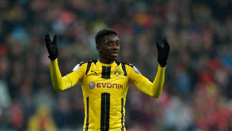 Ousmane Dembele is hoping Borussia Dortmund will let him join Barcelona