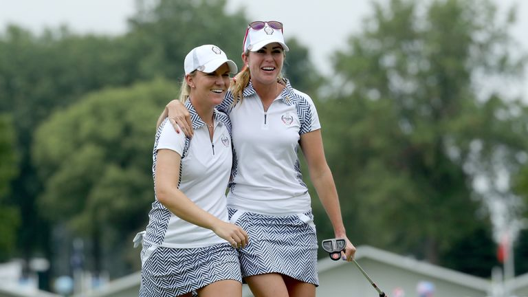 Paula Creamer and Austin Ernst were gifted several holes by European mistakes