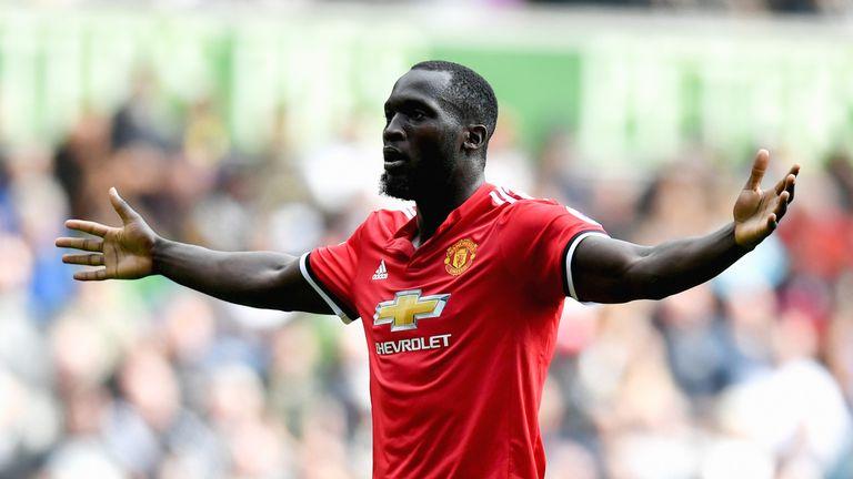 Romelu Lukaku has scored seven goals in nine league games for Manchester United