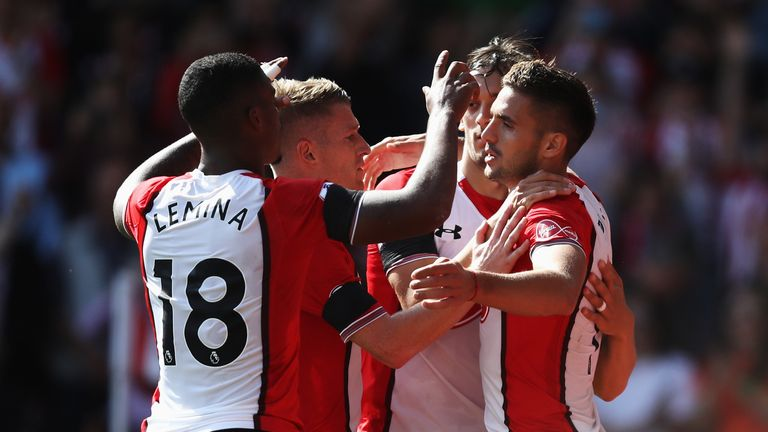 Dusan Tadic (right) admitted Southampton were 'nervous' against Newcastle