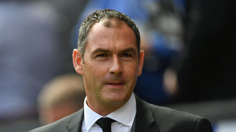 Paul Clement prior to the Premier League match between Swansea City and Manchester United