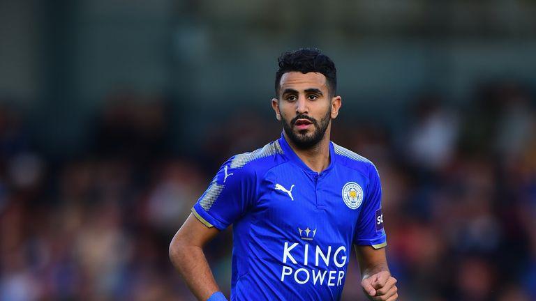 BURTON-UPON-TRENT, ENGLAND - AUGUST 01:  Riyad Mahrez of Leicester City  during the Pre-Season Friendly match between Burton Albion v Leicester City at Pir