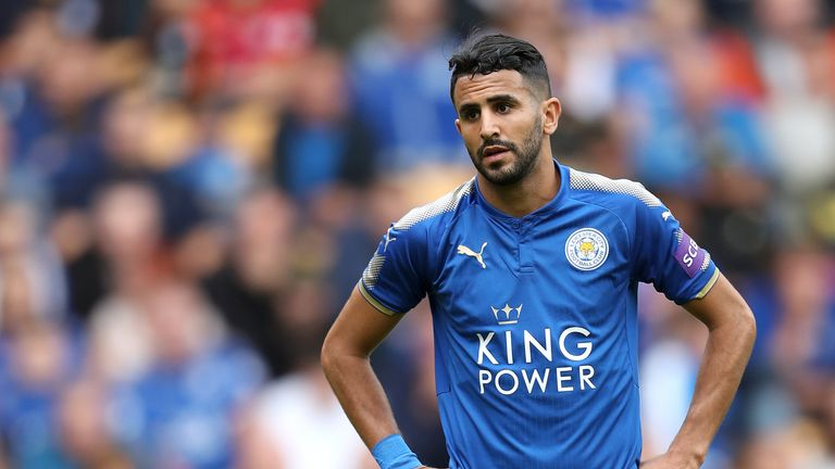 Leicester City's Riyad Mahrez in action against Wolverhampton Wanderers, during pre-season.