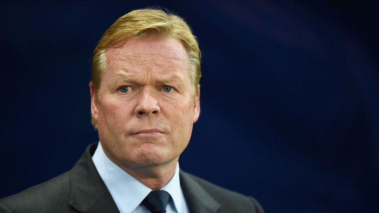 Ronald Koeman prior to the English Premier League match between Manchester City and Everton at the Etihad Stadium