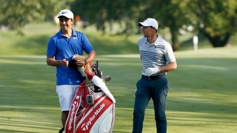 New caddie Harry Diamond was the best man at McIlroy's wedding earlier this year