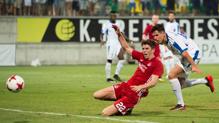 Ryan Christie sees a late chance go begging in Limassol