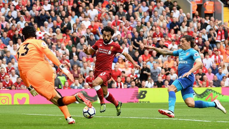 Salah missed a glorious chance to open the scoring early on
