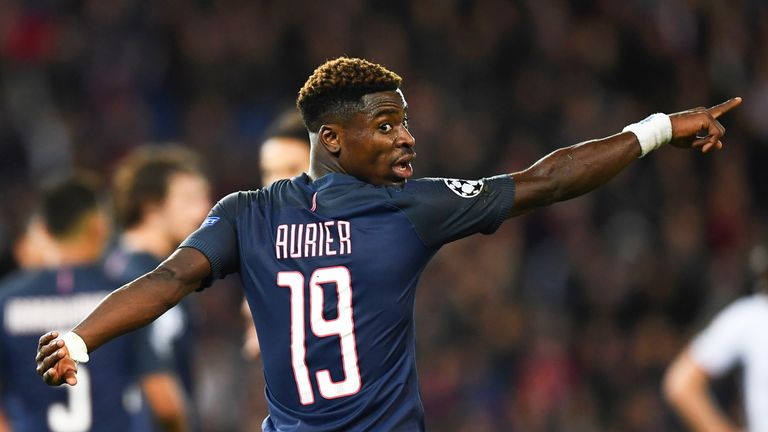 Serge Aurier during the UEFA Champions League group A match between PSG and Base on October 19, 2016