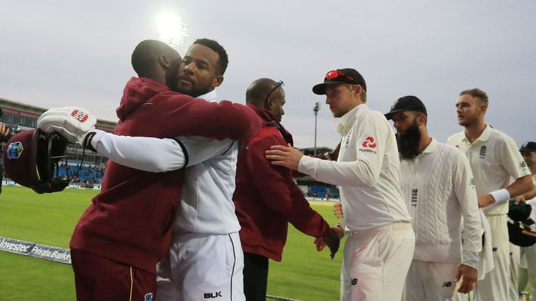 Shai Hope became the first player to hit two hundreds in a first class game at Headingley
