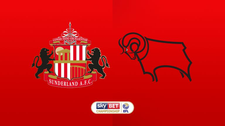 Watch Sunderland v Derby County live on Sky Sports Football or Sky Sports Main Event from 7pm on Friday