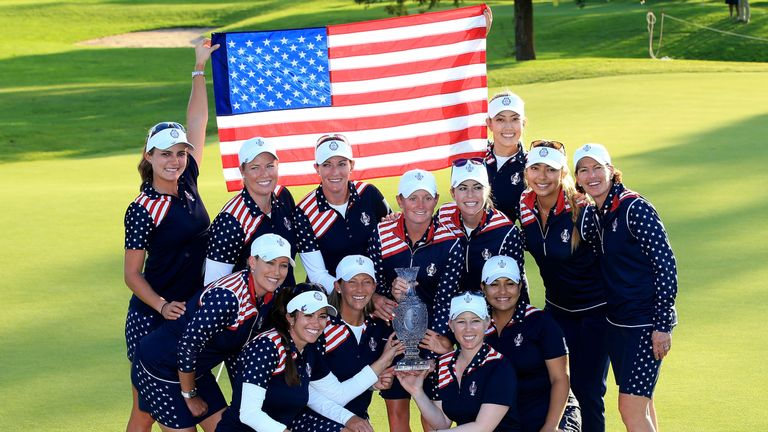 The USA defend the Solheim Cup after their 14.5-13.5 win in 2015