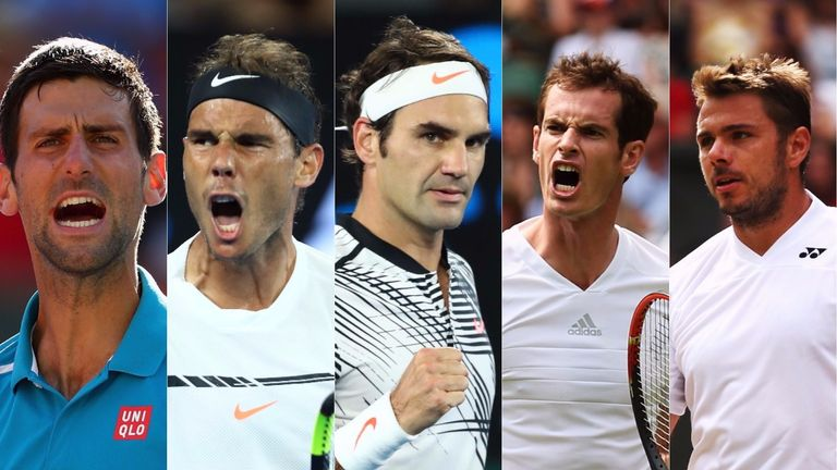 Djokovic, Nadal and Federer have scooped up the majority of the majors over the past 14 years
