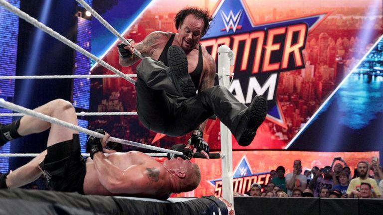 relive brock lesnar v undertaker at summerslam 2015 wwe news sky