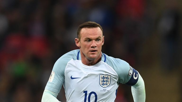 Wayne Rooney in action during the FIFA 2018 World Cup Qualifier, Group F match against Malta