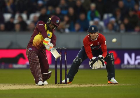 Evin Lewis top scored for West Indies