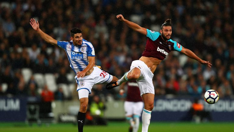 Andy Carroll was a big threat for West Ham on his return to the starting line-up