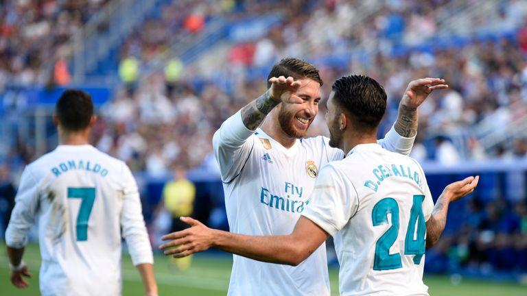 Real Madrid's Dani Ceballos scored twice for Real Madrid