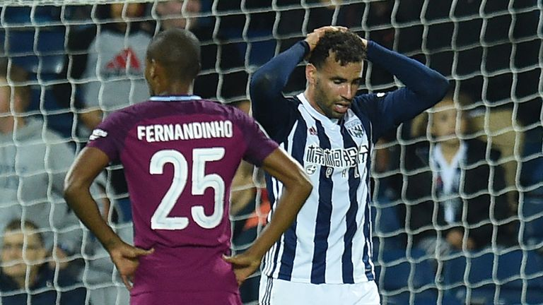 Hal Robson-Kanu missed a glorious chance to equalise for West Brom in the game's final few seconds