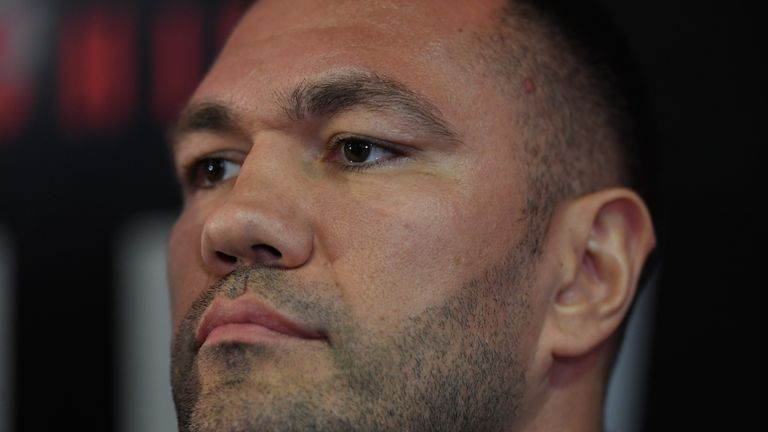 CARDIFF, WALES - SEPTEMBER 11:  Kubrat Pulev pictured during a media opportunity ahead of their World Heavyweight title clash at Principality Stadium on Se